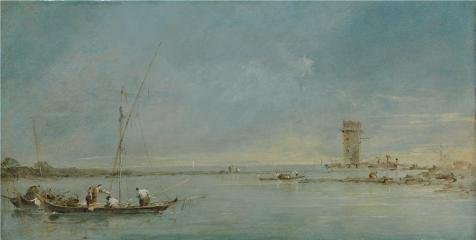 Matthew Mercer Halloween Costume (The Perfect effect Canvas of oil painting 'Francesco Guardi - View of the Venetian Lagoon with the Tower of Malghera,probably 1770s' ,size: 16x32 inch / 41x81 cm ,this Vivid Art Decorative Canvas Prints is fit for Home Theater decoration and Home decoration and Gifts)