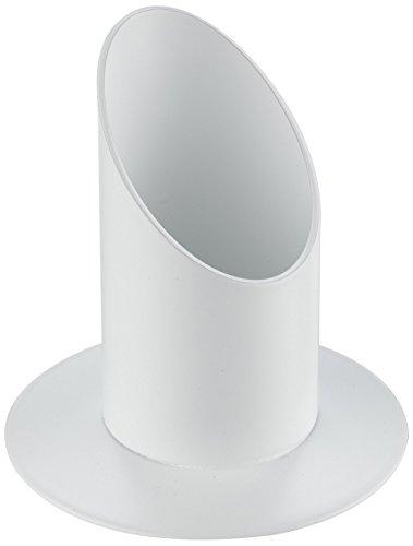 RAYHER 2514102 Kerzenhalter, 40 mm Durchmesser für Tauf- und Kommunionkerzen, weiß