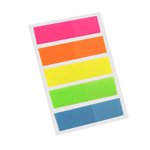 Clearance Sale!UMFun Creative Stationery Fluorescent Classification Index Paste Label Stickers (A) -