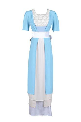 Titanic Rose Dewitt Bukater Cosplay Costume Blue