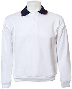 Jumar Sport - Sudadera básica Polo Bandera, Color: Blanco, Talla ...