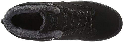 Schwarz Fur a Black Globe Collo Motley Alto Mid Pantofole Black Uomo Nero Hxx8OP