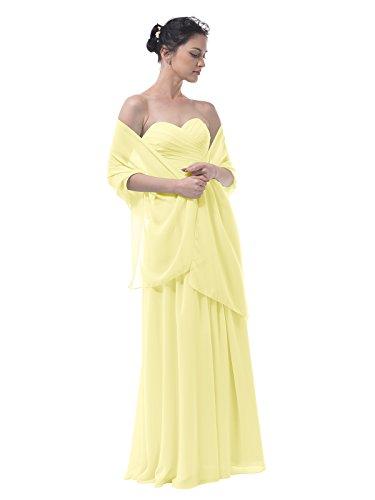 Alicepub Chiffon Bridal Shawl Wedding Wrap Stole Womens Evening Dress Scarf Bolero