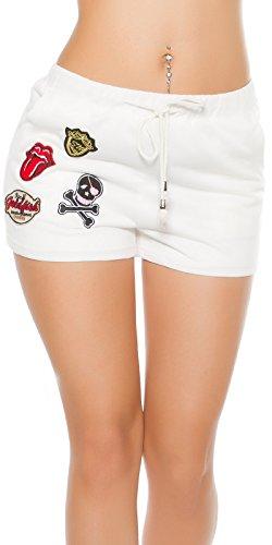Koucla Koucla Donna Pantaloncini Bianco Pantaloncini nTqY18pqw6