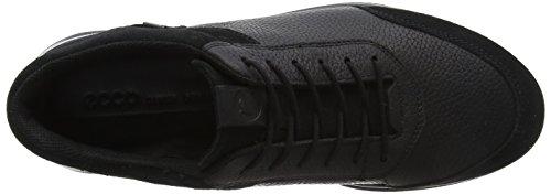 Ecco Schwarz black 51052 Aquet Homme Baskets Bq64B