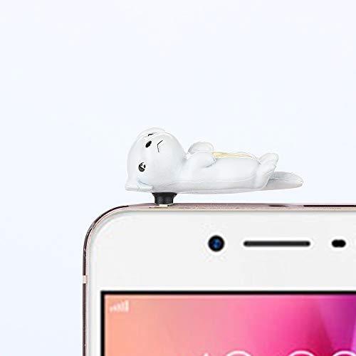 Gotian 3.5mm Cute Puppy Anti Dust Earphone Jack Plug Stopper Ear Cap for Cellphone (B)]()