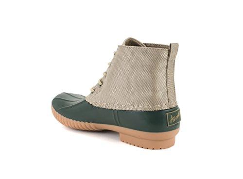 Avanti Cruze Dames Duck Boots - Waterdichte Regenlaarzen Olijf En Bruin