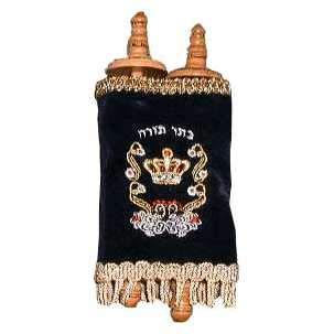 Jewish Essentials Children's Torah Scroll Replica - 4 in Blue, Black, Toy