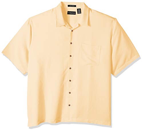 Cabana Banana Collection - Clementine Men's ULTC-8980-Cabana Breeze Camp Shirt, Banana, Large
