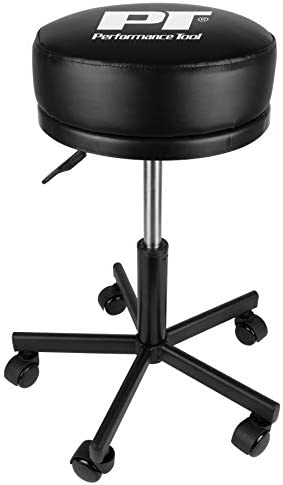 Performance Tool W85033 Extra-Thick 12.5 Inch Big Top Pneumatic Rolling Shop Stool