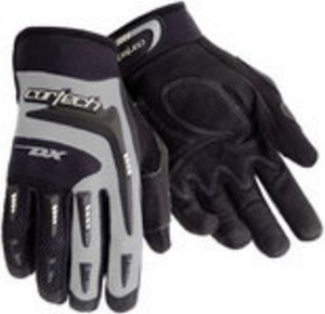 (Cortech Youth DX 2 Gloves - Youth Large/Black/Silver)