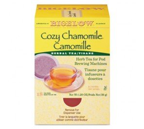 Bigelow Cozy Chamomile Herbal Tea Pods, 1.9 Oz, Box of 18 Pods