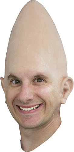 Conehead Cone Head Egg Headpiece Bald Wig Costume Accessory with ears Hat