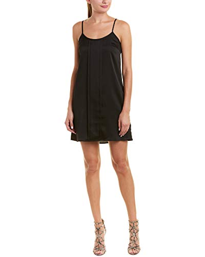 THE FIFTH Womens Label Pleated Front Shift Dress, M, Black