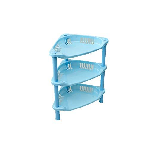 Three Layers Pink Green Blue Plastic Kitchen Bathroom Shelf Storage Racks Holder Cosmetics Organizer DIY,no3