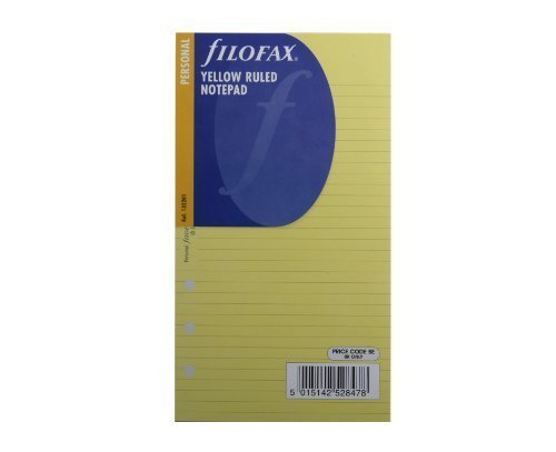 Fashion Coloured Filofax Pocket Ruled Notepaper