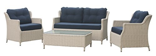 rattan gartenm bel garten lounge set klassisch elegant komfortabel wei ton wetterfest. Black Bedroom Furniture Sets. Home Design Ideas