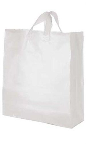 Count Frosted Plastic Shopping Bag product image