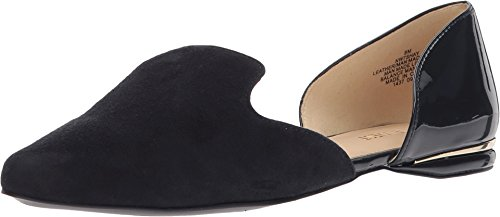 Nine West Women's Shay Navy/Navy Suede 8.5 M US (Nine Women West Flat For Shoes)