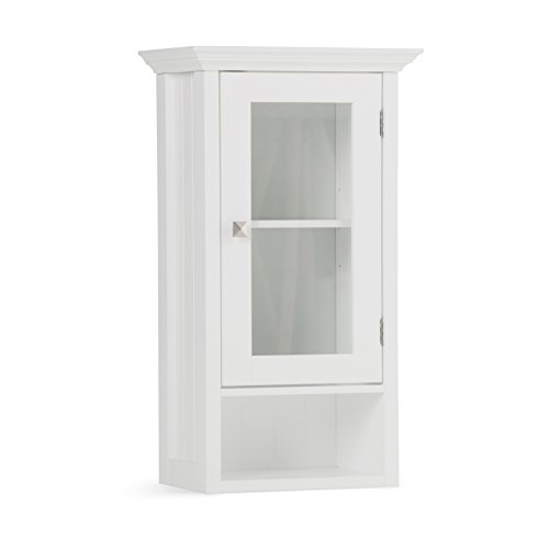 Simpli Home Acadian Single Door Wall Cabinet, White by Simpli Home