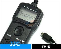 JJC TM-K Wire Multi-Function LCD Timer Remote Control For Fujifilm Finepix HS35EXR HS28EXR HS25EXR HS33EXR HS30EXR HS20EXR HS22EXR X-E1 X-S1 Replaces Fujifilm RR-80