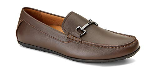 - Vionic Men's Mercer Mason Driving Moccasins - Leather Loafer for Men with Concealed Orthotic Support - Chocolate 12M