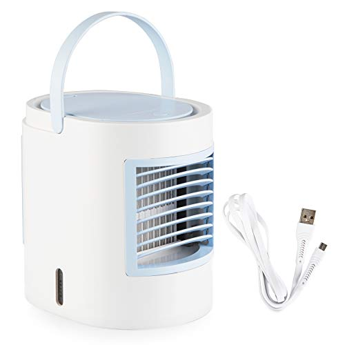 Simply Modern Personal Mini Air Conditioner - Portable AC Unit | Artic evaporative Cooler for Room, Office, and Bedroom. Compact humidifier, Comes in Pink, Blue, and Grey (Blue)