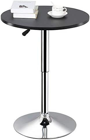 Mr IRONSTONE 2-Piece Bar Table Set, 47 Pub Dining Height Table Bistro Table with Vintage 1 Bar Stool Indoor USE ONLY