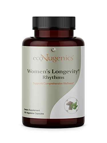 (ecoNugenics – Women's Longevity Rhythms – 180 Capsules | Supports Daily Wellness of Pre-Menopausal Women | Comprehensive Blend of 37 Herbs, Vitamins, Minerals & Antioxidants | Safe &)