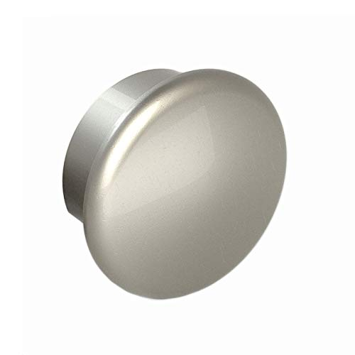 End Cap, Matte Nickel Finish, Clip in Place with Set Screw, for Promenaid Handrail System Only