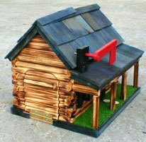 Superbe Amish Log Cabin Mailbox