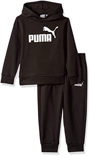 PUMA Boys' Little Fleece Hoodie Set, Black, 6