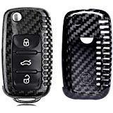 MODIPIM Keyless Entry Remote Cover Carbon Fiber Key Case Fob Holder Shell for VW Volkswagen Golf-7 Amarok CC Eos GTI Jetta...