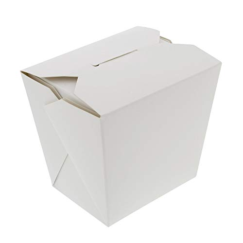 Take Out Boxes 16 oz Disposable to Go Containers Chinese Food Take Out Containers, White 50-Pack ()