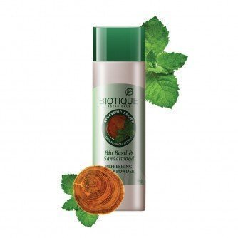 Biotique Bio Basil & Sandalwood Refreshing Body Powder 180gm by Biotique