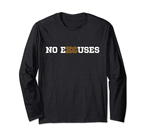 Cross Country Running Shirt Long Sleeve - No eXCuses