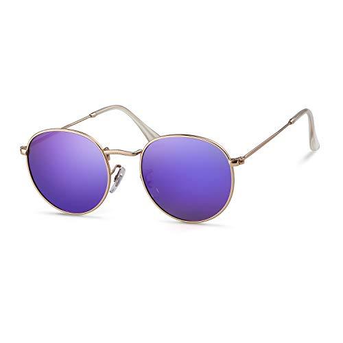 (Round Sunglasses Polarized Sunglasses For Women Men Reflective Sunglasses 3447)