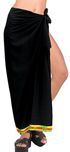 Badeanzug einpacken Damen Pareo Bademode Sarong hawaiische Abdeckung Badebekleidung Frauen Rock Baden schwarz