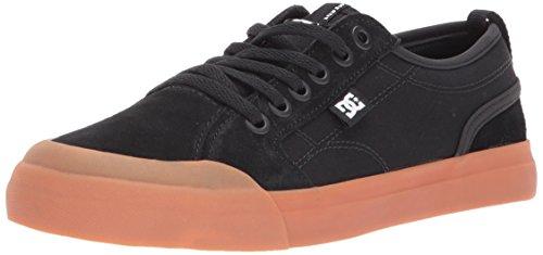 DC Boys' Evan Skate Shoe, Black/Gum, 4 M US Big Kid - Big Skate Shoes