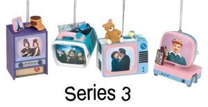 I Love Lucy Set of 4 TV Ornaments Series 3