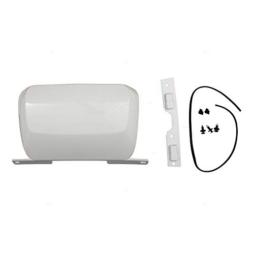 Rear Bumper Trailer White Hitch Tow Cover w/Hardware Replacement for 07-14 Chevrolet Suburban Tahoe GMC Yukon 19172860