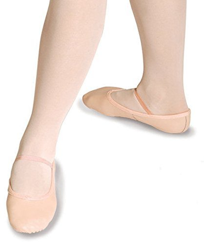 Roch Valley Ophelia Leather Ballet Shoes Full Suede Sole Pre-attached Elastics NEW IMPROVED SIZING! (10 Eur 28 (child), Pink)