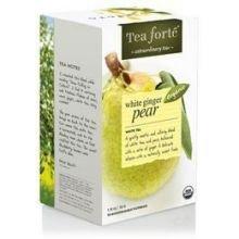 Tea Forte Organic White Ginger Pear Filterbag Tea Bag - 16 per pack -- 6 packs per case. (Pear White Ginger)