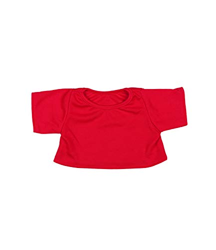 "Red T-Shirt Outfit Fits Most 8""-10"" Webkinz, Shining Star and 8""-10"" Make Your Own Stuffed Animals and Build-A-Bear from Stuffems Toy Shop"