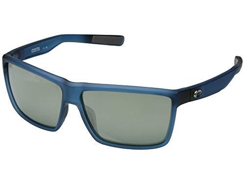 Costa Unisex Rinconcito Gray Silver Mirror 580g/Matte Atlantic Blue Frame One Size