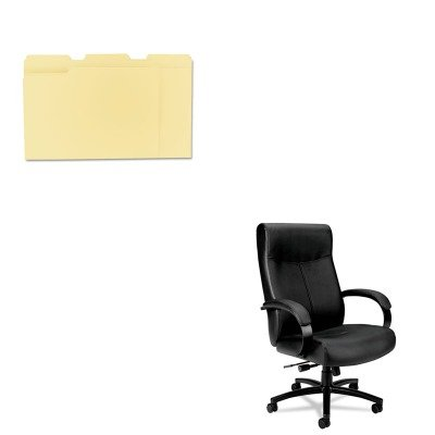 KITBSXVL685SB11UNV12113 - Value Kit - Basyx VL680 Series Big amp;amp; Tall Leather Chair (BSXVL685SB11) and Universal File Folders (UNV12113)