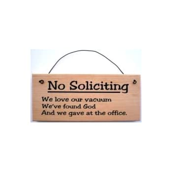 Amazon Com No Soliciting Sign Clever Home Amp Kitchen
