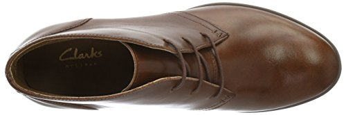 Clarks Calne Olivia, Stivaletti Donna Marrone (Tan Leather)