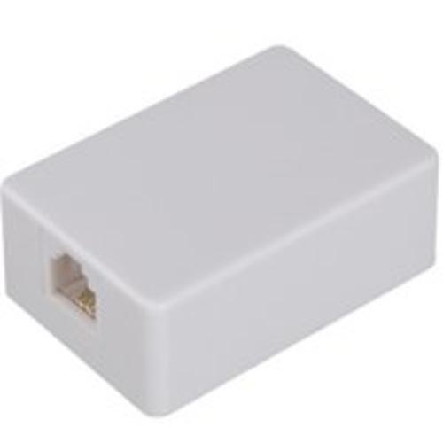 AmerTac - Zenith TM1001SMSMW TM1001SMSMW Surface Mount Jack - White Landline Telephone Accessory