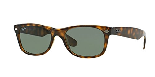 Ray-Ban RB2132 New Wayfarer Sunglasses Unisex (Tortoise Frame Solid Black Lens, 55 - Wayfarer Tortoise New Rb2132 Ray Ban